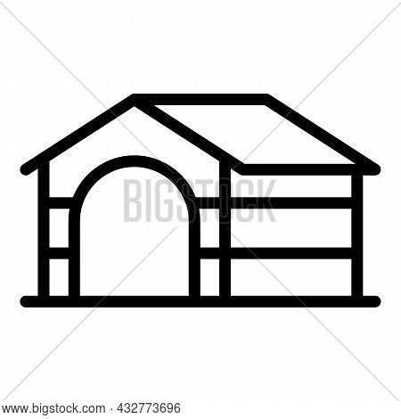 Guard Kennel Icon Outline Vector. Canine Puppy. Canine Paw