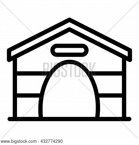 Doggy Kennel Icon Outline Vector. Puppy Dog. Pet House