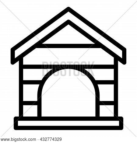 Doggy Home Icon Outline Vector. Dog House. Pet Kennel