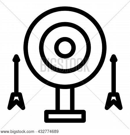 Archery Sport Icon Outline Vector. Archer Arrow. Archer Bow