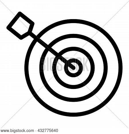 Archery Board Aim Icon Outline Vector. Target Dart. Bullseye Objective