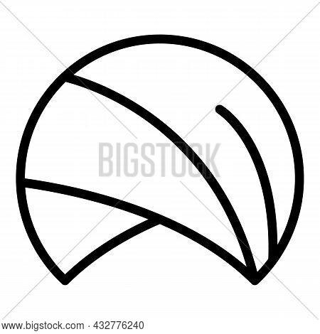 Sultan Hat Icon Outline Vector. Arabic Turban. Muslim Farmer