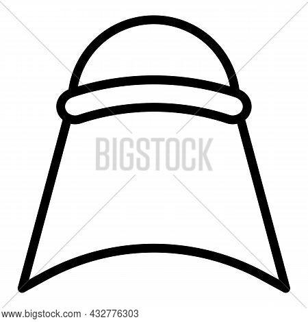 Oriental Headgear Icon Outline Vector. Indian Hat. King Turban