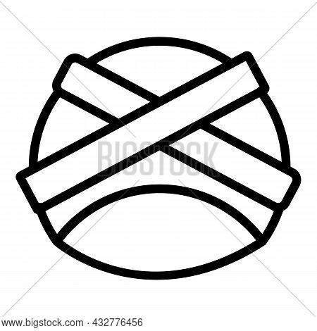 Head Turban Icon Outline Vector. Indian Pagdi. Pagdi Hat