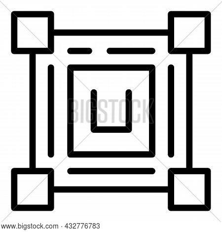 Qr Scanning Icon Outline Vector. Scan Code. Phone Scanner