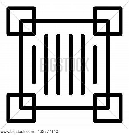 Scanning Code Frame Icon Outline Vector. Qr Scan. Scanner Qrcode