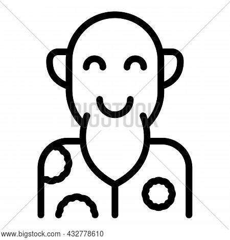 Retirement Icon Outline Vector. Happy Senior. Grandfather Lifestyle