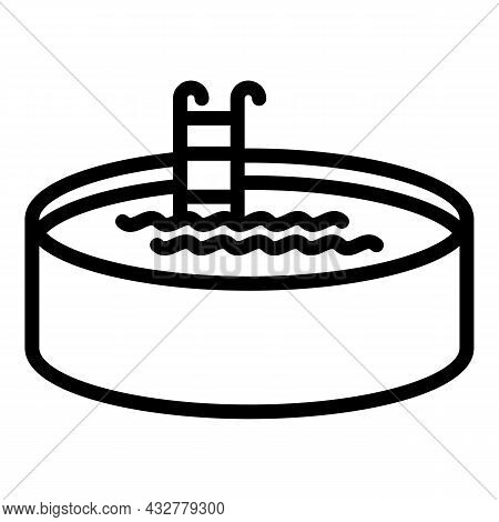 Round Pool Icon Outline Vector. Swimming Ball. Inflatable Mattress