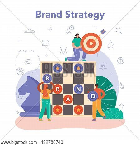 Brand Management Concept. Manager Creating And Developing