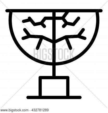 Landscape Trimming Icon Outline Vector. Garden Tree. Garden Lawn