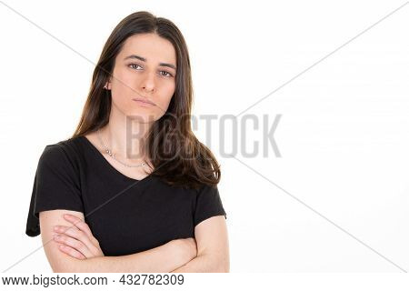 Woman Facial Expression Emotion Of Unhappy Sad Girl Feeling Sorry About Something Bad Happened Full