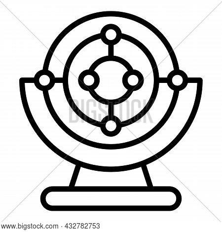 Magnetic Pendulum Icon Outline Vector. Magnet Telescope. Science Laboratory