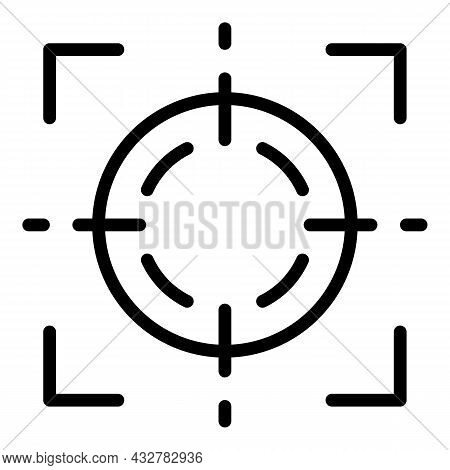 Focus Concentration Icon Outline Vector. Attention Goal. Objective Mind