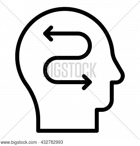Mind Concentration Icon Outline Vector. Control Head. Brain Meditate