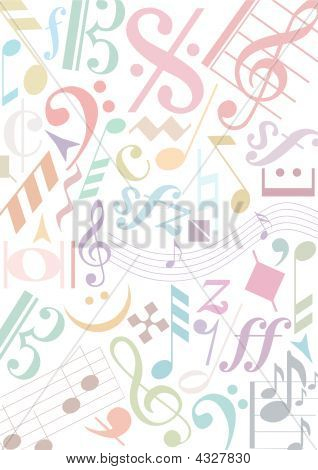 Background Pastell Music Signs