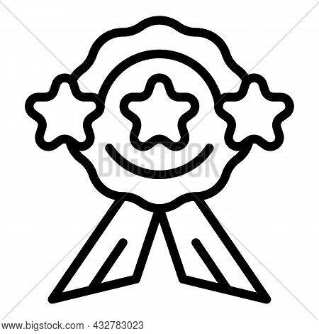 Concentration Award Icon Outline Vector. Smart Memory. Genius Brain
