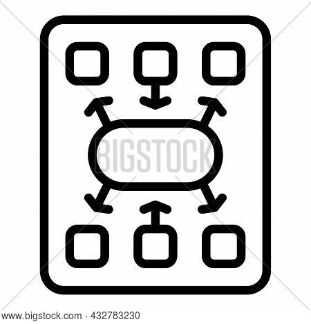 Work Concentration Icon Outline Vector. Workplace Time. Job Control