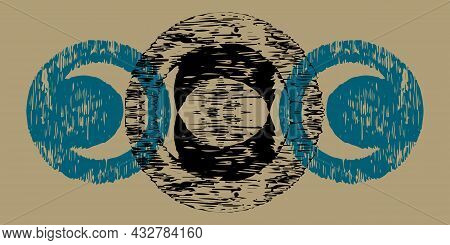 Vector Illustration Of The Triple Wiccan Moon