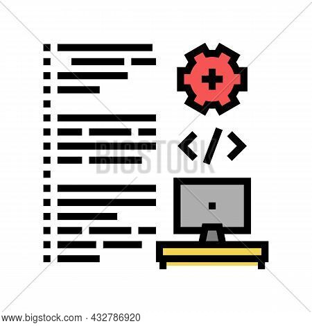 Software Developing Color Icon Vector. Software Developing Sign. Isolated Symbol Illustration