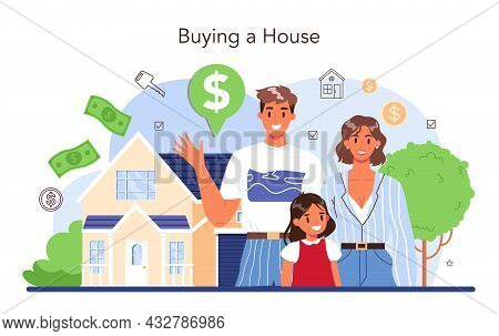 Real Estate Industry. Property Buying And Selling. Realtor Assistance
