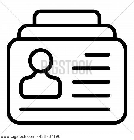 Client Badge Icon Outline Vector. Customer Card. Id Member