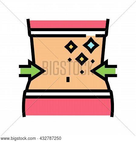 Thin Waist Athlete Color Icon Vector. Thin Waist Athlete Sign. Isolated Symbol Illustration