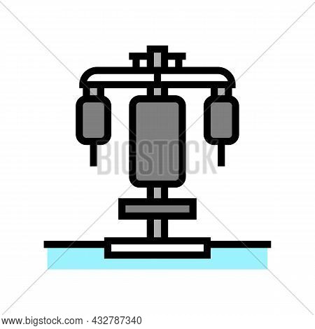 Fitness Station Color Icon Vector. Fitness Station Sign. Isolated Symbol Illustration