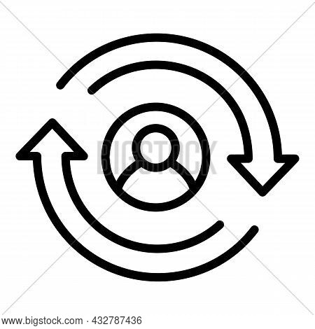 Client Retention Icon Outline Vector. Customer Retain. Consumer Return
