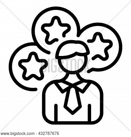 Customer Satisfaction Icon Outline Vector. Online Review. Loyalty Feedback