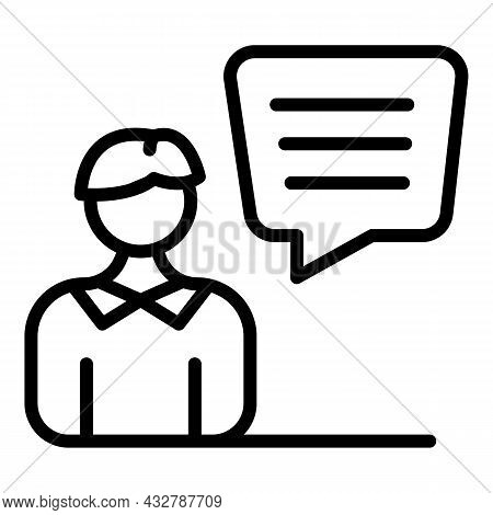 Customer Comment Icon Outline Vector. Online Review. Feedback Forum