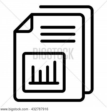 Client Report Icon Outline Vector.survey Review. Consumer Research