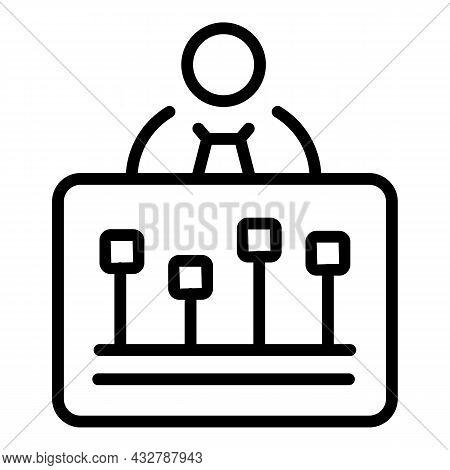 Customer Survey Icon Outline Vector. Feedback Opinion. Satisfaction Research