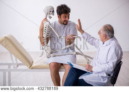 Mentally ill person and doctor
