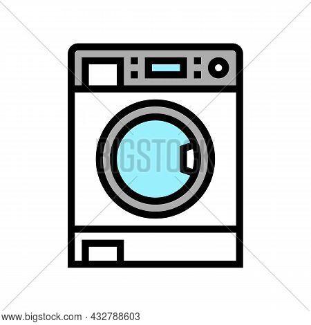 Laundry Machine Color Icon Vector. Laundry Machine Sign. Isolated Symbol Illustration