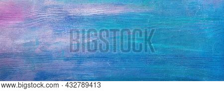 Unevenly colored wooden board. Old  shabby texture.  Flat lay
