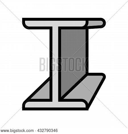 Beams Metal Profile Color Icon Vector. Beams Metal Profile Sign. Isolated Symbol Illustration
