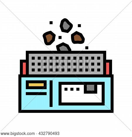 Manufacturing Plant Color Icon Vector. Manufacturing Plant Sign. Isolated Symbol Illustration