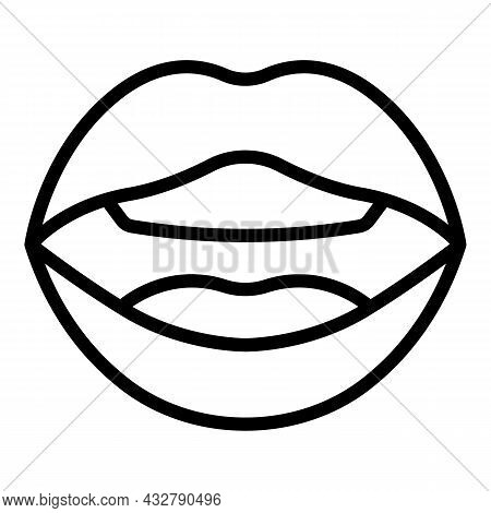 Tongue Articulation Icon Outline Vector. Mouth Pronunciation. Language Speech
