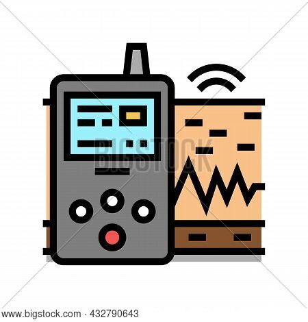 Vibration Assessment Color Icon Vector. Vibration Assessment Sign. Isolated Symbol Illustration