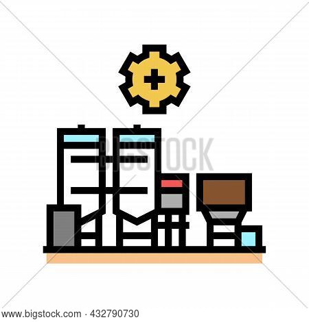 Manufacture Factory Color Icon Vector. Manufacture Factory Sign. Isolated Symbol Illustration