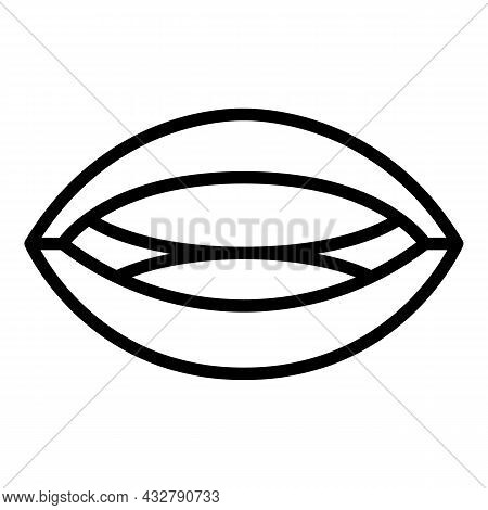 Language Articulate Icon Outline Vector. Mouth Pronunciation. Speech Animation