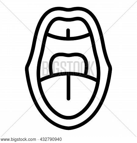 Mouth Sync Animation Icon Outline Vector. Facial Movement. Speech Expression