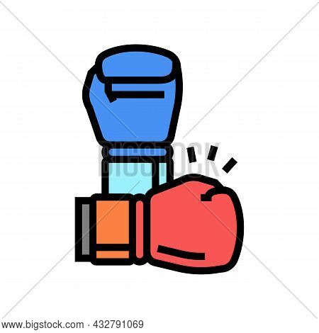 Box Fight Sport Color Icon Vector. Box Fight Sport Sign. Isolated Symbol Illustration