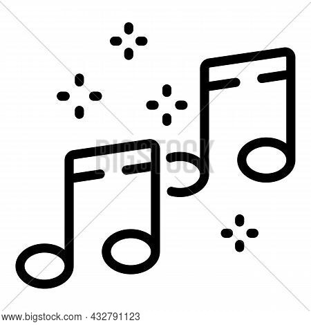 Music Listening Icon Outline Vector. Listen Song. Audio Podcast