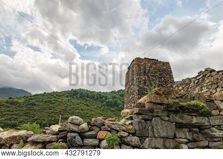Ancient Masonry Made Of Large Stones Without Bonding Mortar