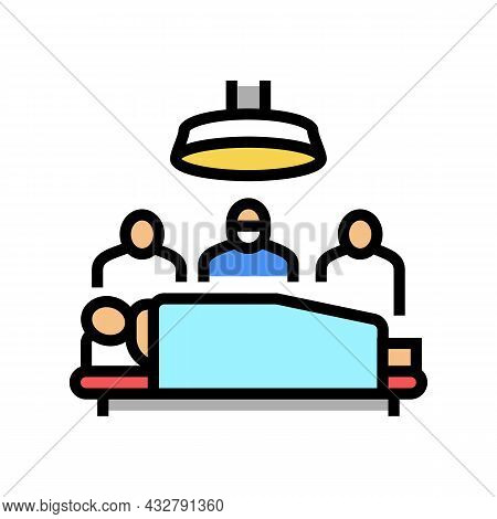 Surgery Doctor And Assistant Team Color Icon Vector. Surgery Doctor And Assistant Team Sign. Isolate