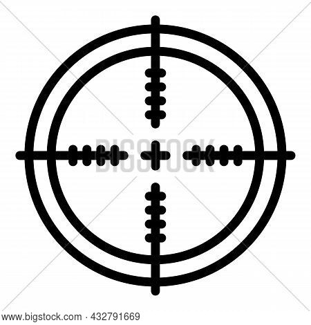 Focus Frame Icon Outline Vector. Business Target. Digital Objective