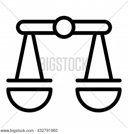 Attention Balance Icon Outline Vector. Mind Concentration. Emotional Energy