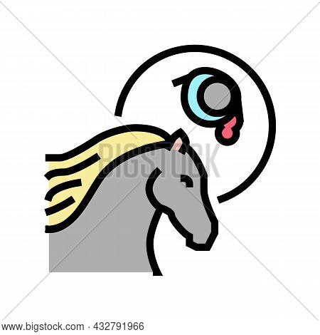 Leptospirosis Horse Color Icon Vector. Leptospirosis Horse Sign. Isolated Symbol Illustration