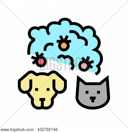 Plague Domestic Animal Color Icon Vector. Plague Domestic Animal Sign. Isolated Symbol Illustration